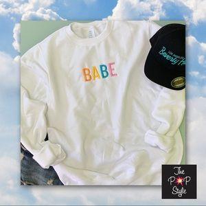BABE Shirt , Embroidered Sweatshirt